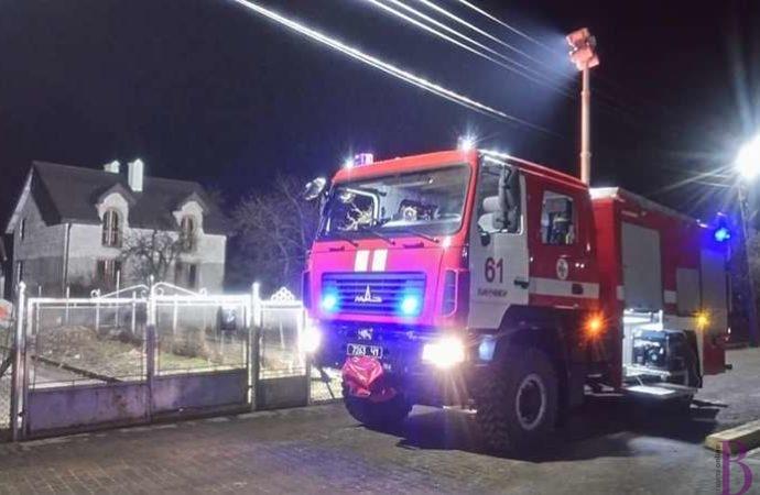 На вулиці Хоружинської у Винниках горіла літня кухня