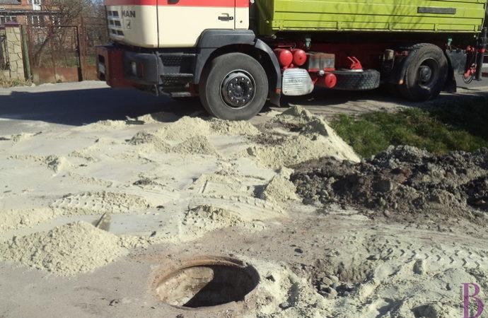 У Винниках розпочали каналізувати вулицю Котляревського