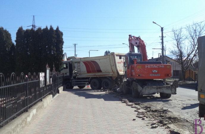У Винниках фірма «Онур» розпочала черговий етап із ремонту вулиці Галицької