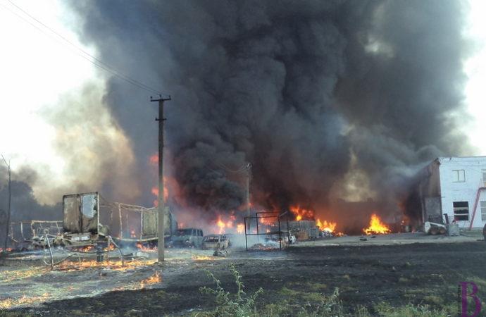 Концентрація шкідливих речовин у повітрі після пожежі на хімічному підприємстві в Чишках у межах норми