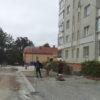 У Винниках облаштовують прибудинкову територію на вулиці Любич-Парахоняк,17
