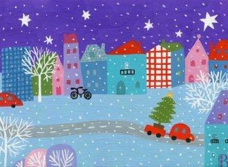 Сніжна і казкова «Зима»: виставка винниківської художниці Ірини Мориквас