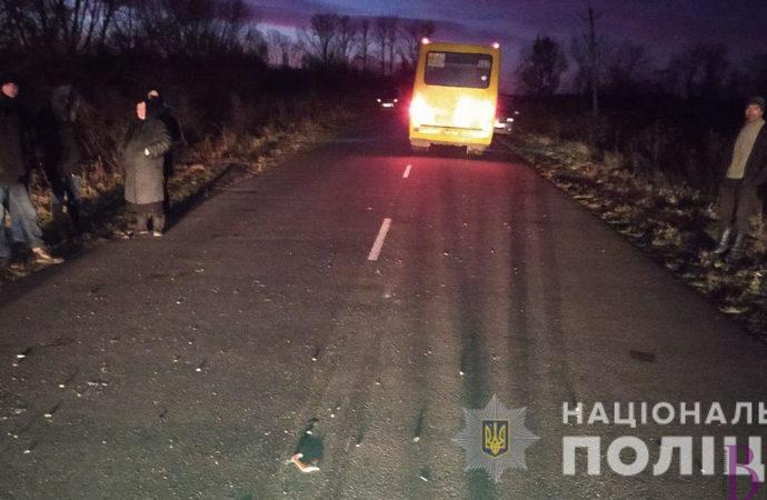 Неподалік села Тарасівка під колесами автобуса загинув пішохід