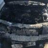 У Винниках на Галицькій горів автомобіль (фото)