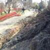 У Винниках каналізують вулицю Лермонтова