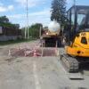 На вулиці Івана Франка у Винниках будують каналізаційний колектор
