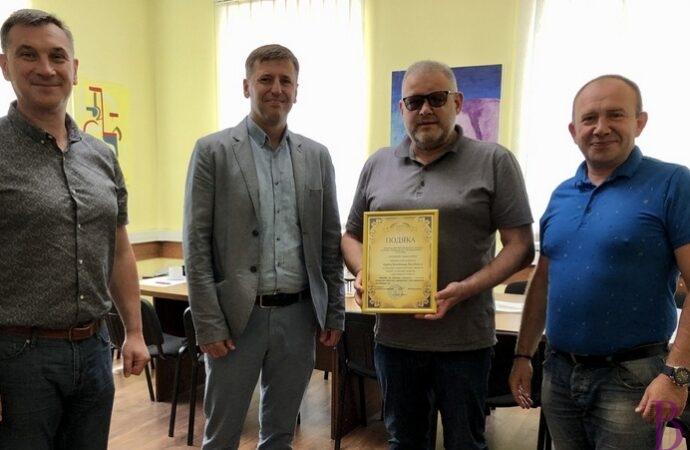Міський голова Винник Володимир Квурт отримав подяку від медиків