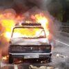 Неподалік Винник згорів автомобіль