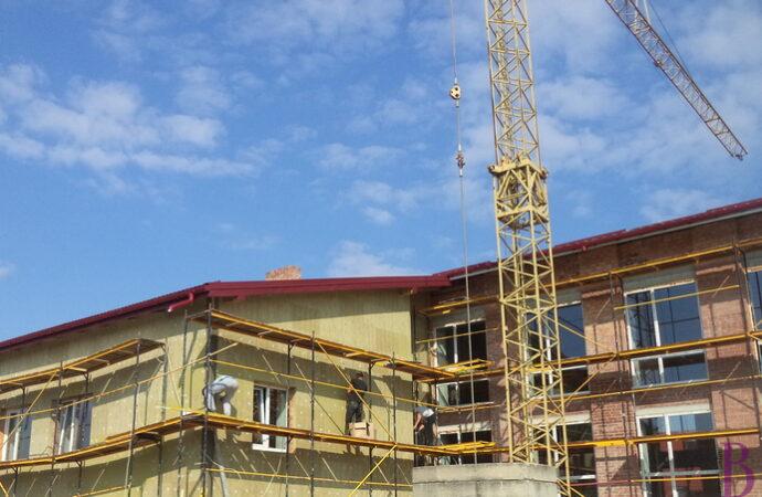 У Винниках триває будівництво спортзалу у СЗШ №47